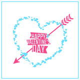 Happy Valentines day greeting or invitation card Stock Photos