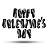 Happy Valentine's Day greeting phrase made with 3d retro style Royalty Free Stock Photos