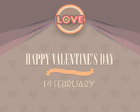 Happy Valentines Day Greetings Card Design. Card design for Valentines day Royalty Free Stock Photography