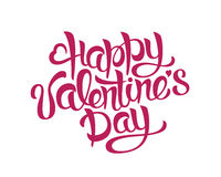 Happy Valentines Day Hand Drawing Lettering design. Vector typography Stock Photo
