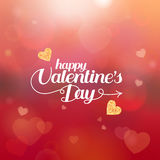 Happy Valentines Day hand drawing vector lettering design and lace heart Stock Image