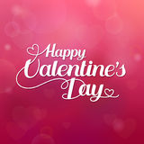 Happy Valentines Day hand drawing vector lettering design and paper heart Royalty Free Stock Images