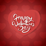 Happy Valentines Day Hand Drawn Lettering Vector Design Royalty Free Stock Images