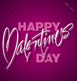 HAPPY VALENTINES DAY hand lettering (vector). HAPPY VALENTINES DAY hand lettering -- handmade calligraphy Stock Photo