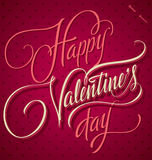 HAPPY VALENTINES DAY hand lettering (vector) Stock Photos