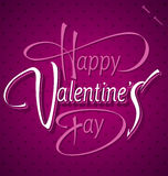 HAPPY VALENTINES DAY hand lettering (vector) Royalty Free Stock Photography