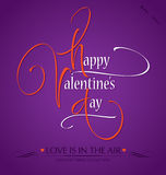 HAPPY VALENTINES DAY hand lettering (vector) Stock Photo