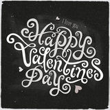 Happy Valentines Day hand lettering Stock Photography