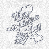 HAPPY VALENTINeS DAY hand lettering handmade calligraphy vector Stock Image