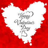 HAPPY VALENTINES DAY hand lettering - handmade calligraphy, vector Royalty Free Stock Photos