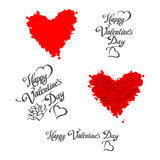 HAPPY VALENTINES DAY hand lettering - handmade calligraphy, vector Royalty Free Stock Photo