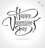 Happy Valentines Day hand lettering (vector) Royalty Free Stock Images
