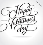 Happy Valentines Day hand lettering (vector) Stock Photography