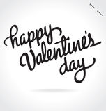 Happy Valentines Day hand lettering (vector) Stock Images