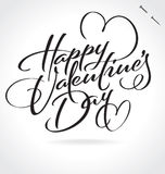 Happy Valentines Day hand lettering (vector) Royalty Free Stock Photo