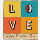 Happy Valentines Day hand lettering Stock Image