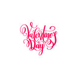 Happy valentines day handwritten lettering holiday design to gre Stock Images