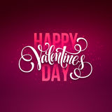 Happy valentines day handwritten text on blurred Royalty Free Stock Image