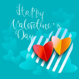 Happy valentines day handwritten text on blurred background. Vector illustration EPS10.  Stock Photos