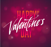 Happy Valentines Day handwritten text for invitation, flyer, greeting card. Stock Images