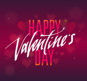 Happy Valentines Day handwritten text for invitation, flyer, greeting card. Royalty Free Stock Image