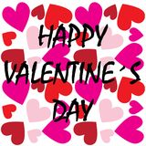 Happy valentines day header or banner Royalty Free Stock Photo