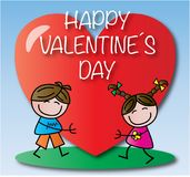 Happy valentines day heart background Royalty Free Stock Photo
