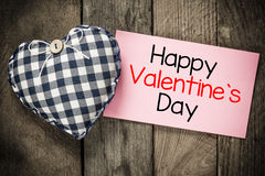 Happy Valentines day and heart Royalty Free Stock Photos