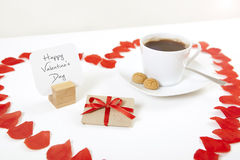 Happy valentines day heart gift Royalty Free Stock Images