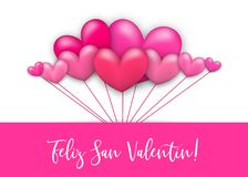 Free Happy Valentines Day Heart Greeting Card Royalty Free Stock Image - 107118276