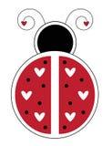 Happy Valentines Day Heart Ladybug Stock Photo