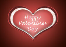 A happy valentines day heart love Royalty Free Stock Photography