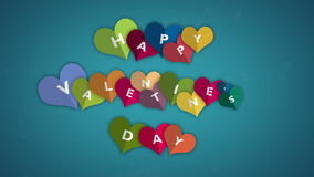 Happy Valentines Day. heart opening with a letter Video animation, motion graphic design. Animated many moving hearts expand form a wishing celebrating stock video