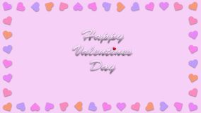 Happy valentines day with heart shape style illustration Stock Images