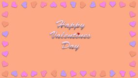 Happy valentines day with heart shape style illustration Stock Photo