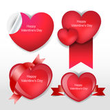 Happy valentines day heart template Royalty Free Stock Photo