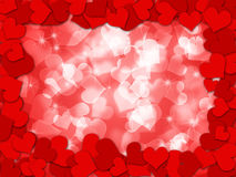 Happy Valentines Day Hearts Border Bokeh Royalty Free Stock Image