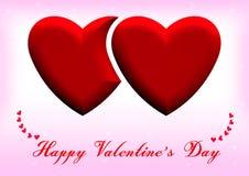 Happy Valentines Day hearts Stock Photo