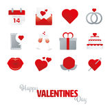 Happy Valentines Day Icon set Royalty Free Stock Images