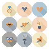 Happy Valentines Day Icons Stock Images
