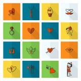 Happy Valentines Day Icons Royalty Free Stock Photo