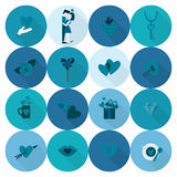 Happy Valentines Day Icons Royalty Free Stock Images