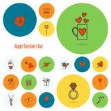 Happy Valentines Day Icons Stock Image