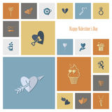 Happy Valentines Day Icons Royalty Free Stock Photography