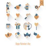 Happy Valentines Day Icons Stock Photography