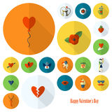 Happy Valentines Day Icons Royalty Free Stock Image