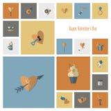 Happy Valentines Day Icons Stock Photos