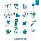 Happy Valentines Day Icons Royalty Free Stock Photos