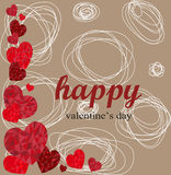 Happy Valentines day Ideal for greeting card or background Stock Photo