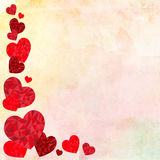 Happy Valentines day Ideal for greeting card or background Illustration with red love hearts on background Stock Photography